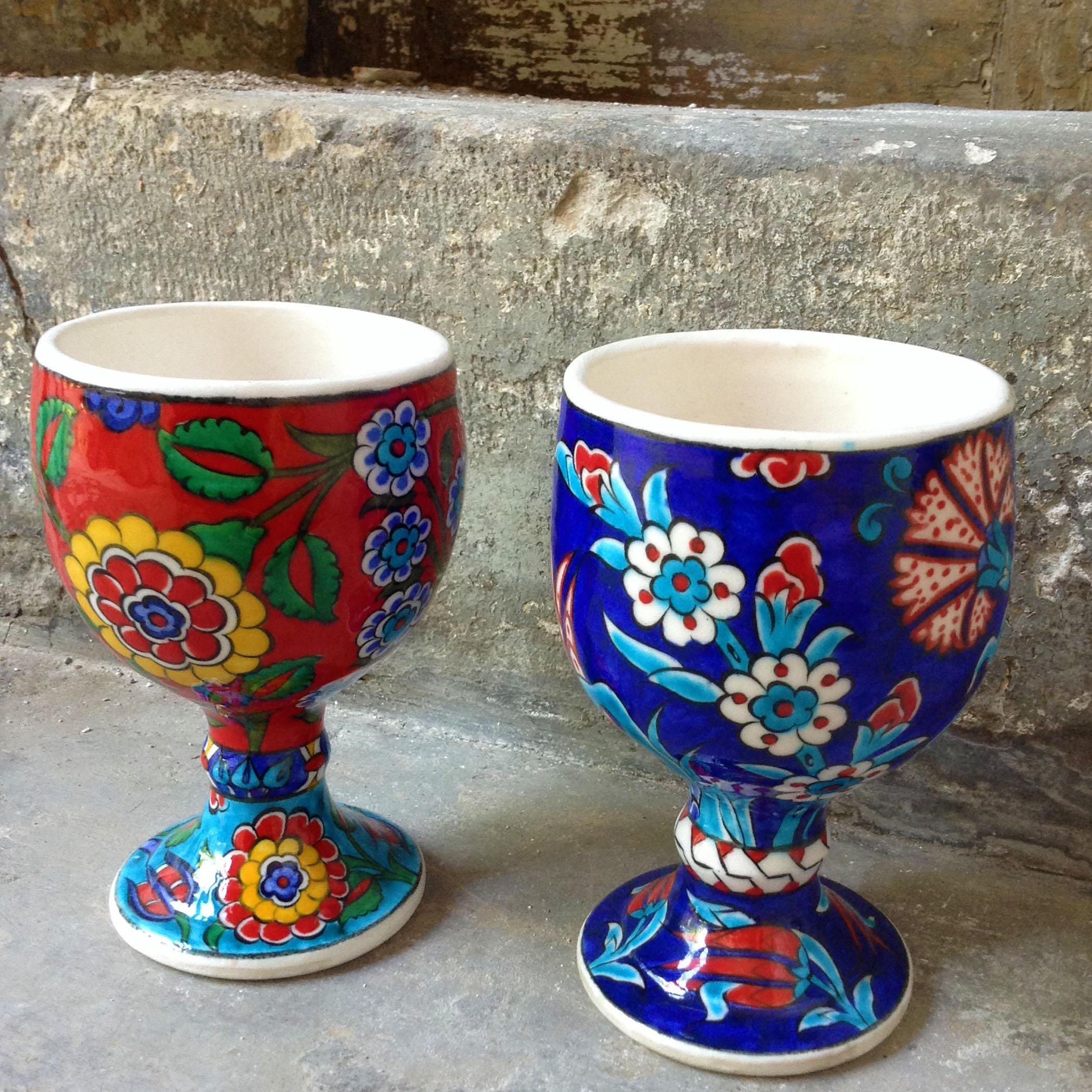 Turkish Modern Iznik Quartz Goblet