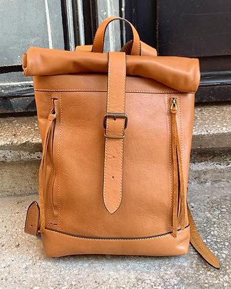 Brown Rolltop with Front Zip Pocket