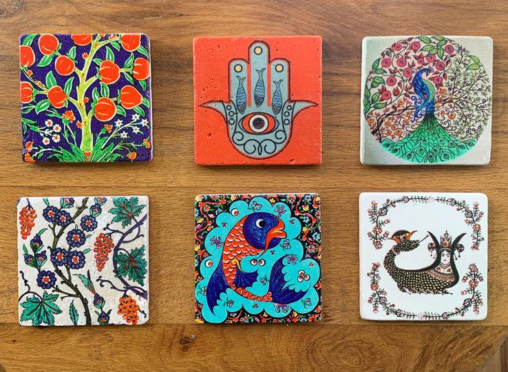 Handprinted Stone Tiles