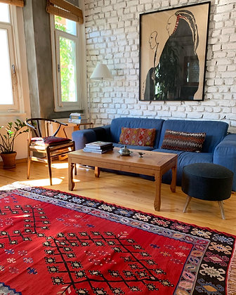 "Vintage Anatolian Kilim 5'3"" x 8'2"""