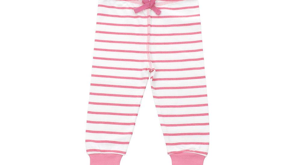 Cozy Pants in Pink Marseille Stripe