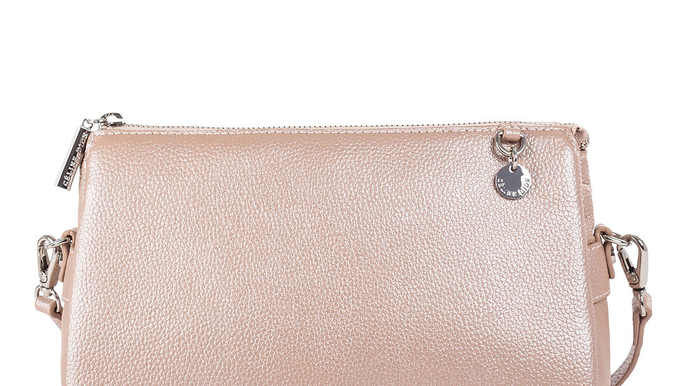 Falsetto- leather crossbody bag with RFID protection