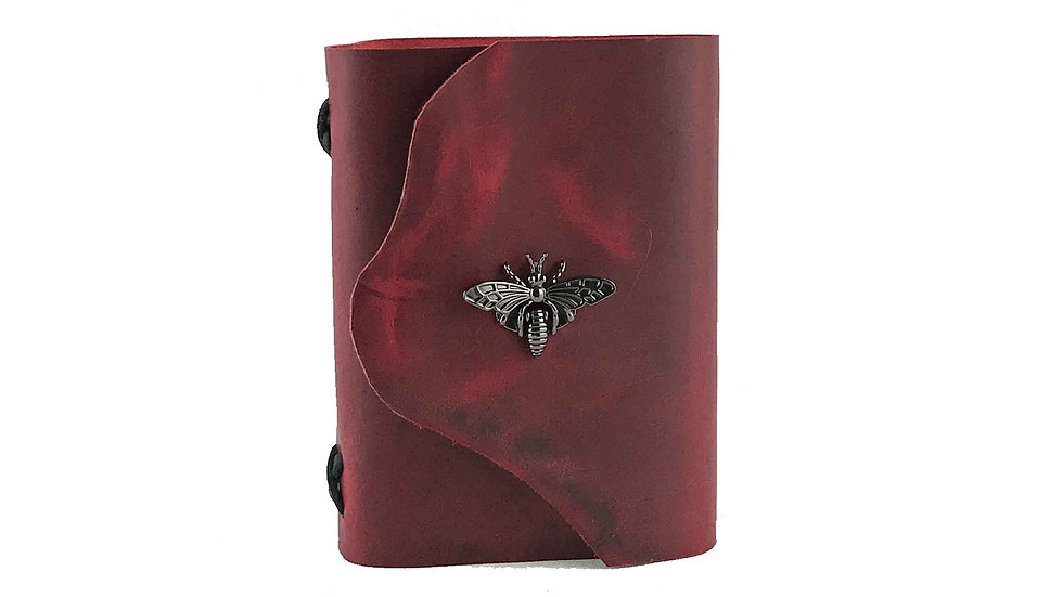 Red Leather with Black accent Journal