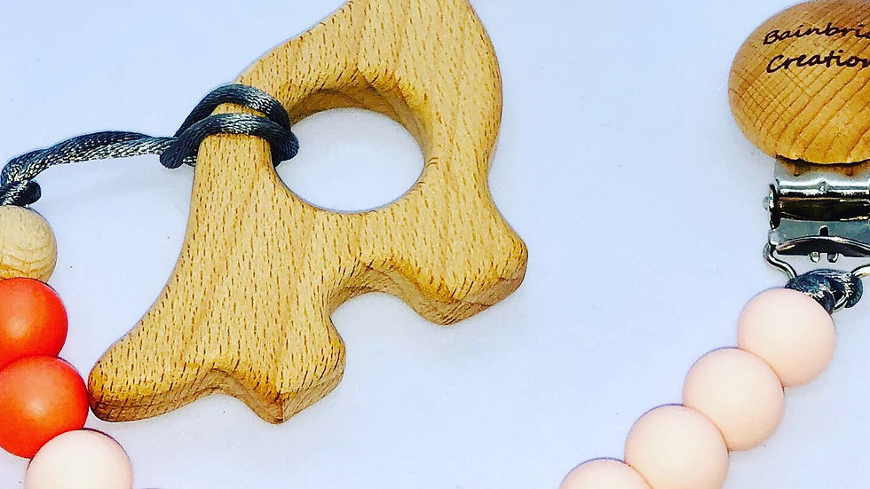 Dino teether & strap