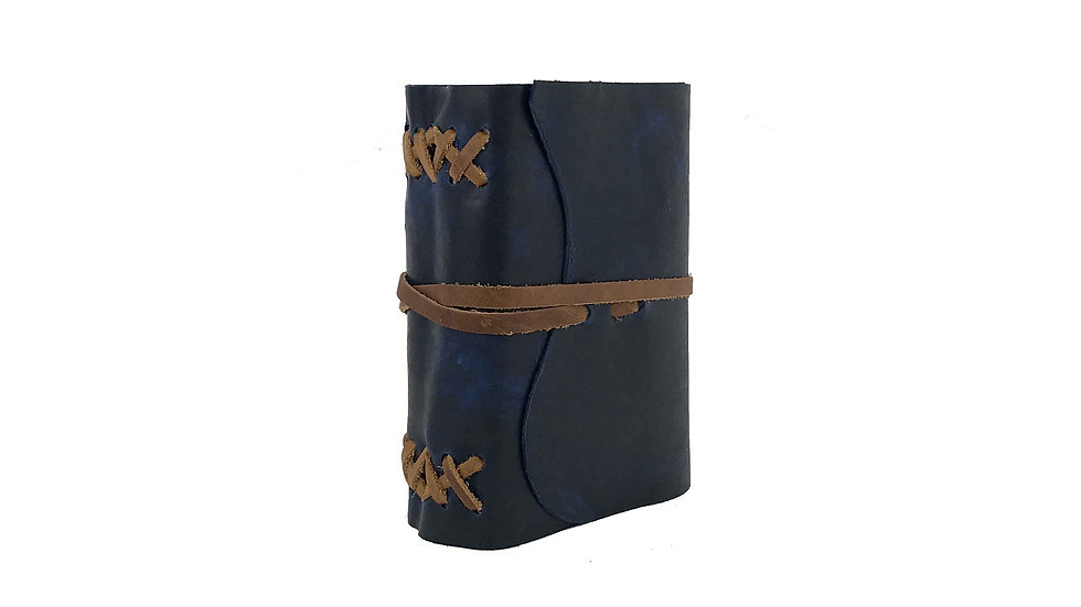 Blue Leather with Brown accent Journal