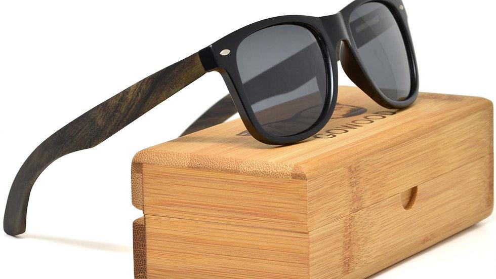 Ebony wood sunglasses with polarized lenses