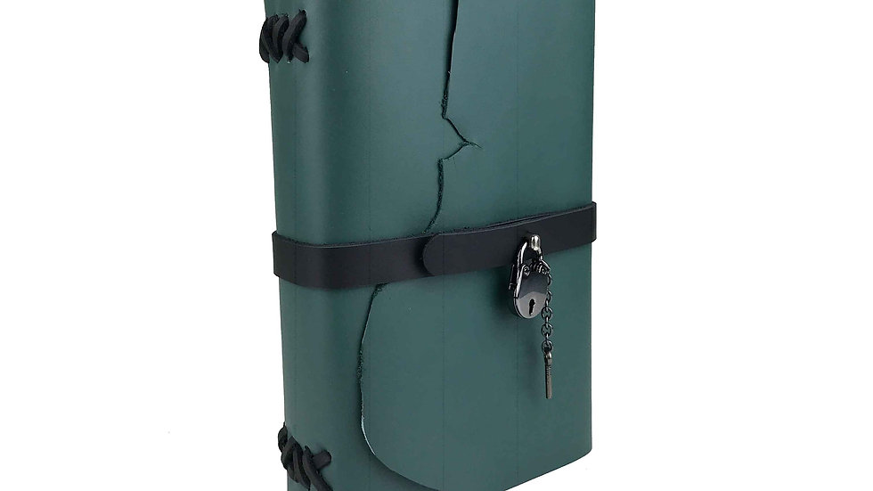 Sea Green Leather with black accent Journal