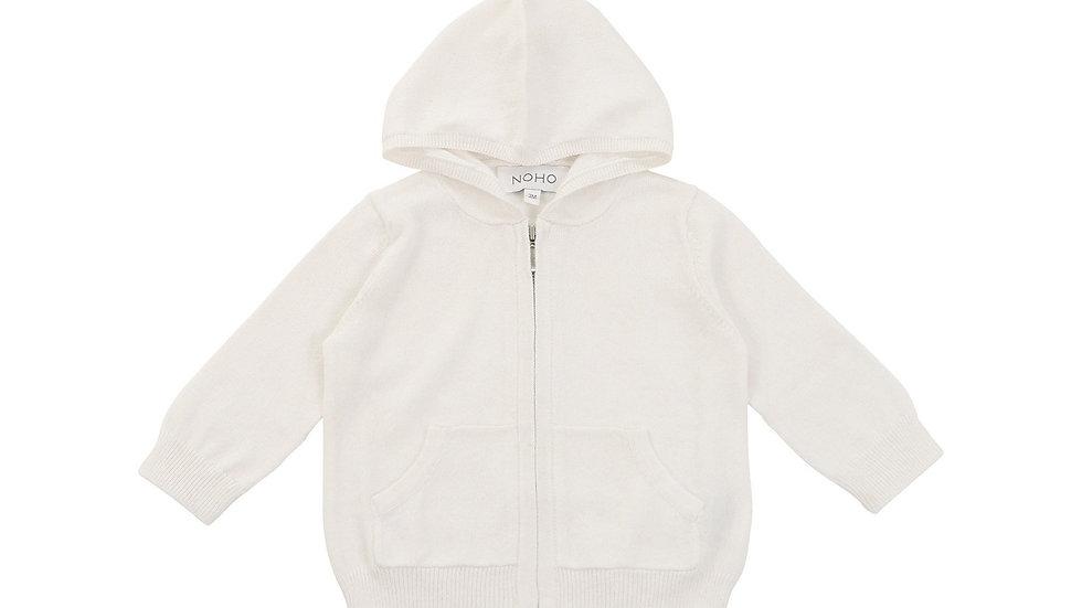 Cotton Cashmere White Hoodie