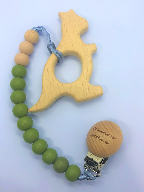 Kangaroo Wooden Teether's & Straps