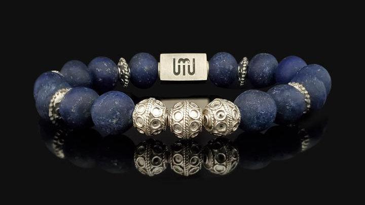Matte Lapis Lazuli & Silver-Elite Bracelet