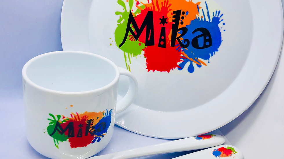 Personalised Childrens Plate Set