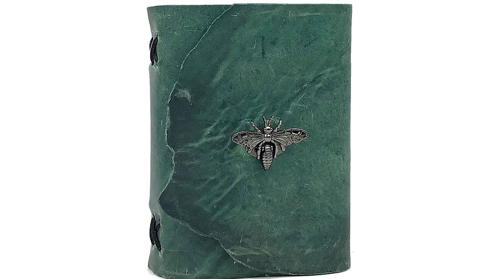 Teal Leather with black accent Journal