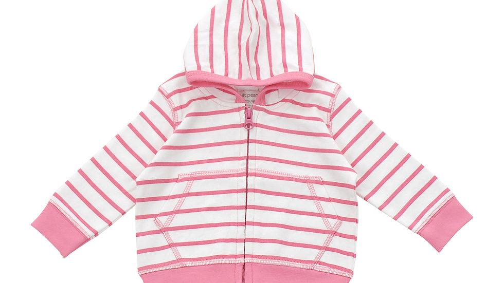 Hoodie in Pink Marseille Stripe