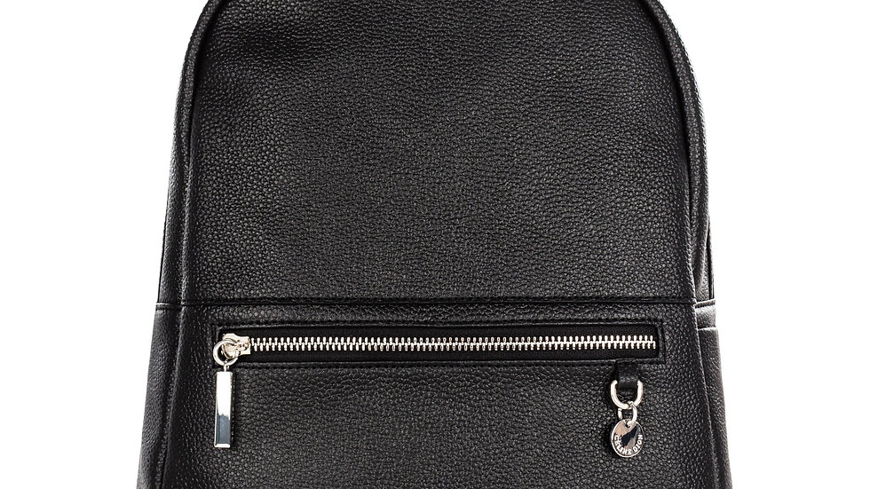 Falsetto- leather backpack with RFID protection