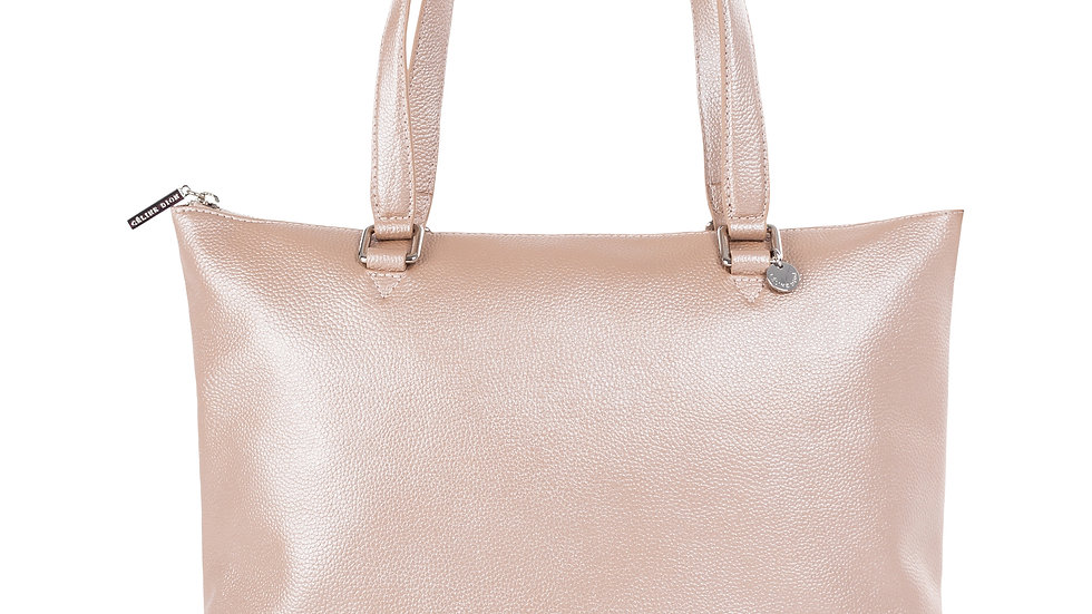 Falsetto- leather tote bag with RFID protection