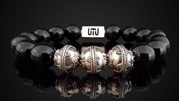 Obsidian-Silver Bracelet