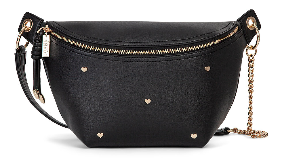 Lov- Money belt with main zipped compartment- Black