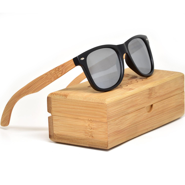 Mens Womens Wooden Bamboo Wood Frames Sunglasses Polarised UV400Elmyn Wear