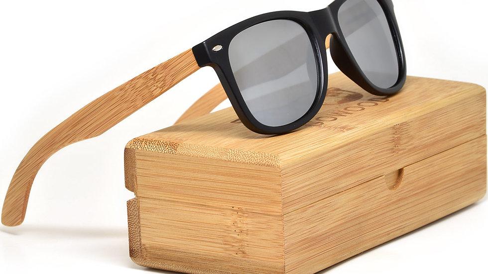 Bamboo wood sunglasses with polarized lenses