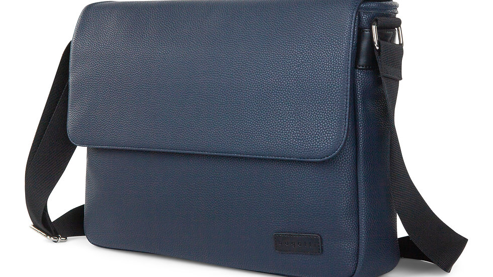 """Contrast- Messenger bag with padded laptop section- fits most 14"""""""