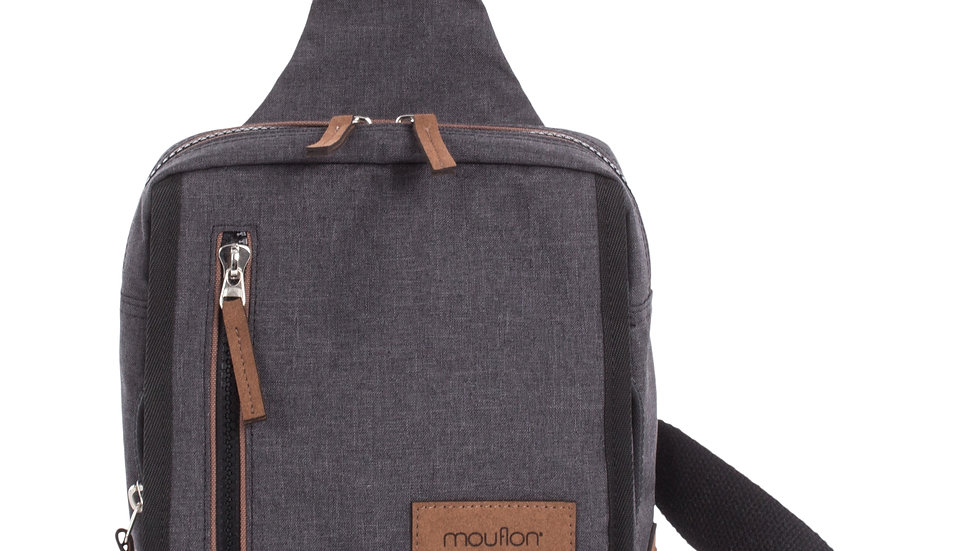 Mouflon- Wander sling bag with zipper closure