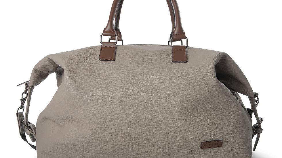 Contrast- Duffle bag with adjustable& removable shoulder strap