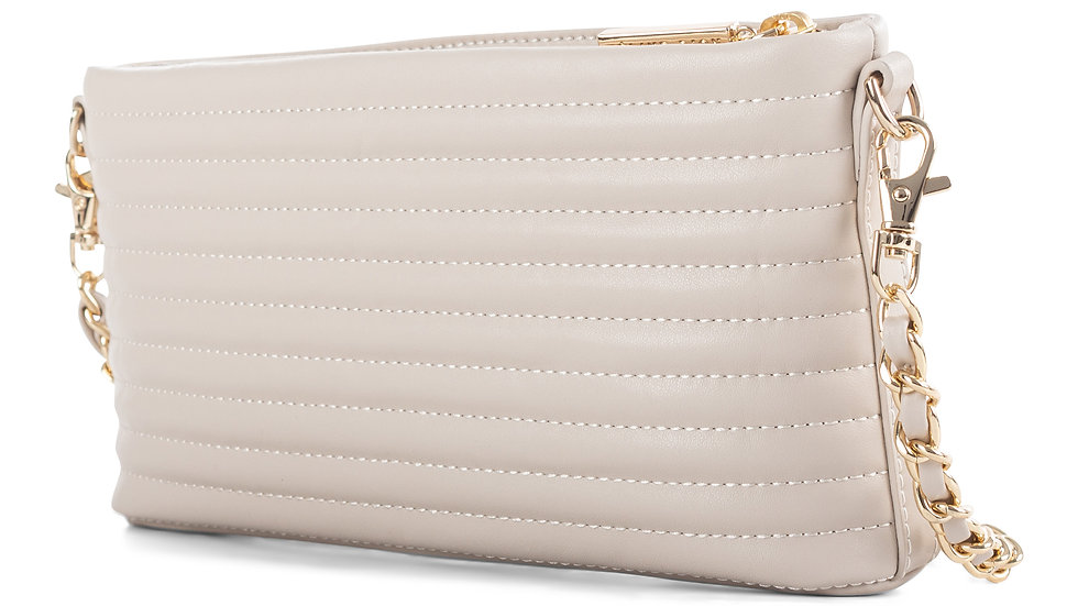 Vibrato- Quilted leather crossbody with removable strap
