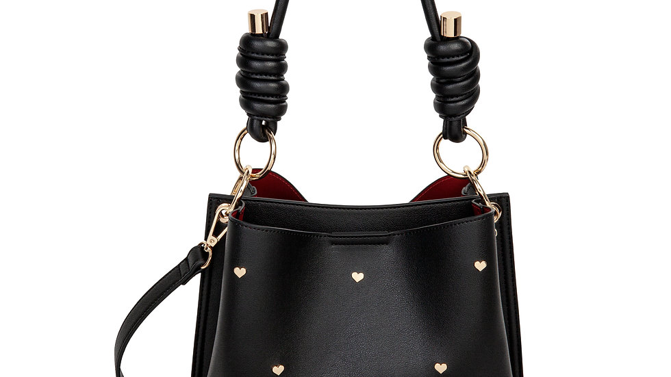 Lov- Hobo with two compartments with magnetic closure- Black