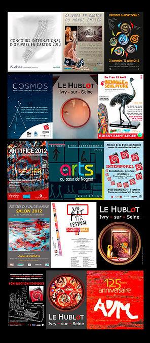 Nathalie Hurtier, sculpteur papier et Olivier Valézy, sculpteur pop-up carton - Expositions Hors les murs, saisons 2013-2011