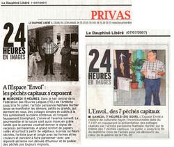 LE DAUPHINÉ LIBÉRÉ, 07/07/2007