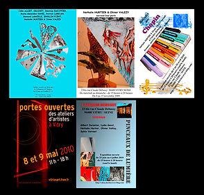 Nathalie Hurtier, sculpteur papier et Olivier Valézy, sculpteur pop-up carton - Expositions Dans les murs, saisons 2010-2008