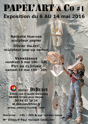 Papel'ART #01 - Nathalie Hurtier, sculpteur papier et Olivier Valézy, sculpteur pop-up carton 2016 © HURTIER
