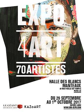 EXPO4ART - Halle des Blancs Manteaux, Paris 2017