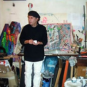Olivier Valézy dans son atelier de la Butte-aux-Cailles