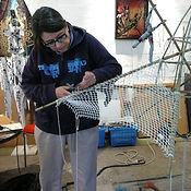 Nathalie Hurtier dans son atelier de Vitry-sur-Seine