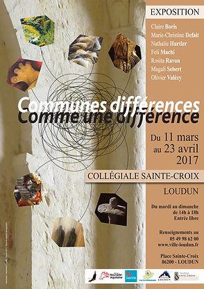 """Exposition """"Communes différences, comme une différence #02"""" - Collégiale Sainte-Croix, Loudun 2017"""