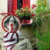 Autoportrait d'Olivier Valézy, sculpteur pop-up carton