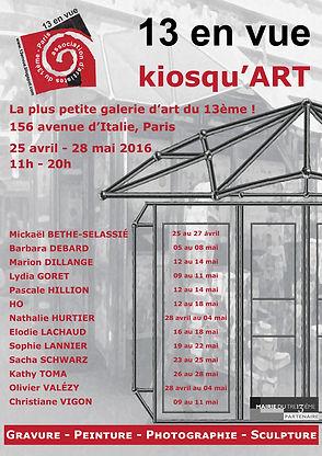 Kiosqu'ART - Nathalie Hurtier, sculpteur papier et Olivier Valézy, sculpteur pop-up carton 2016 © HURTIER