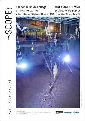 Exposition Nathalie Hurtier, sculpteur papier - Scope, Paris 2017
