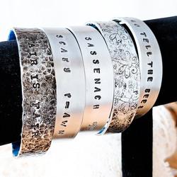 Hand-Stamped Wrist Cuffs
