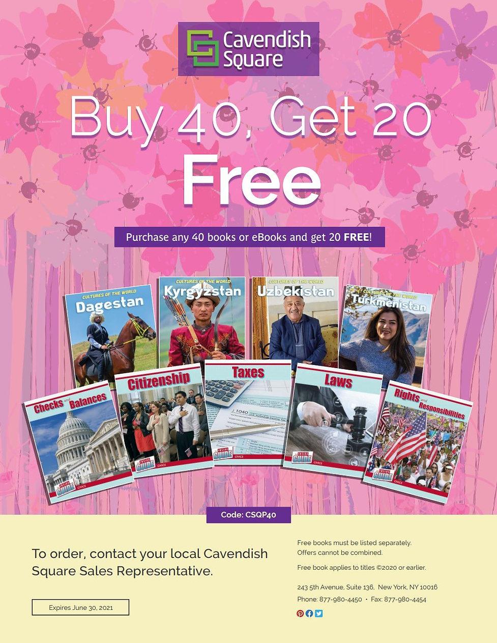 Cavendish Square Buy 40 Get 20 Spring 20