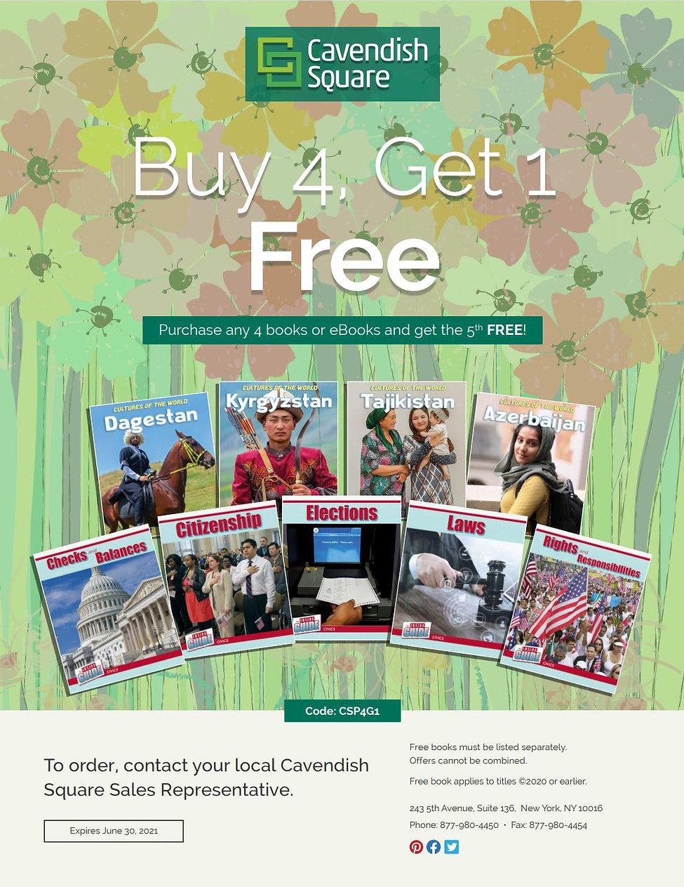 Cavendish Square Buy 4 Get 1 Spring 2021