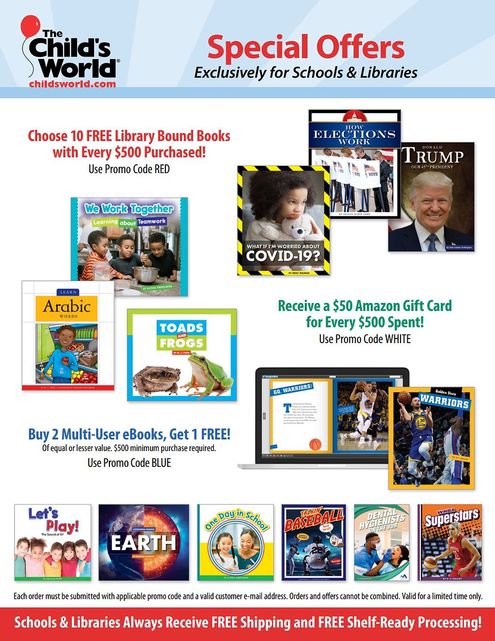 Child's World Special Offers Spring 2021