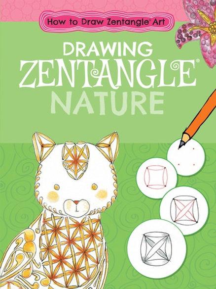 Drawing zentangle nature