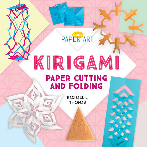 Kirigami paper cutting and folding