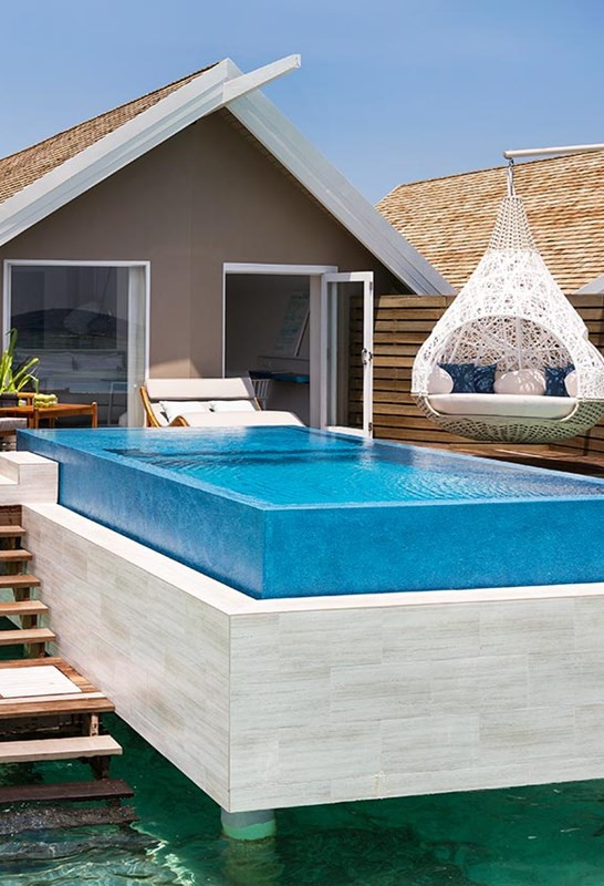over water bungalow Maldives with pool