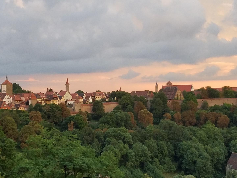 view from Rothenburg ob der Tauber
