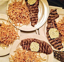 Steak frites fine French food