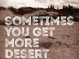 Post-Post-Lenten Meditation V: Sometimes You Get More Desert