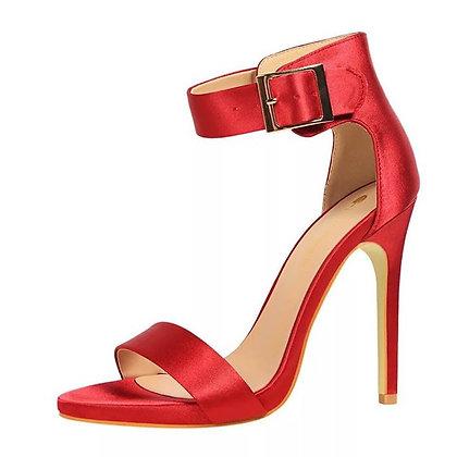 Silk Stiletto Sandals
